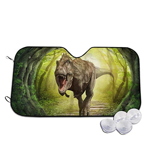 Lovehuangshi Custom-Wallpaper-3D-Dinosaur-World-Landscape-Forest Wallpaper Car Windscreen Sunshades,Protect Cars from UV and Sunlight,Keeps Vehicle Cool.-Car Accessory(S:51.227.5inch M:5530inch)