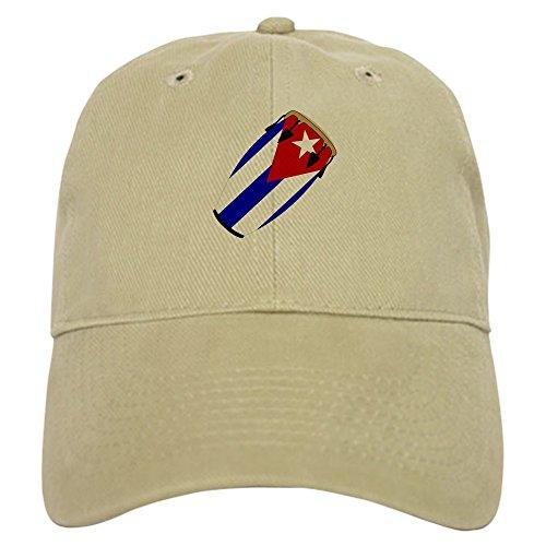 CafePress - Conga Cuba Flag Music Cap - Baseball Cap with Adjustable Closure, Unique Printed Baseball Hat Khaki