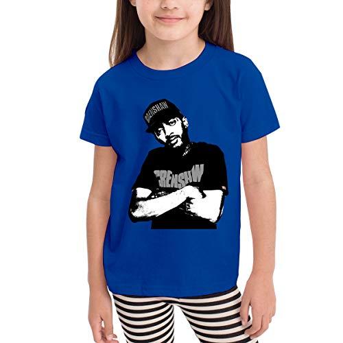 Dick Church Nip-sey Hus-SLE 3D Pattern Printed for Boy Girl Infant Kids Short Sleeve T-Shirts Blue