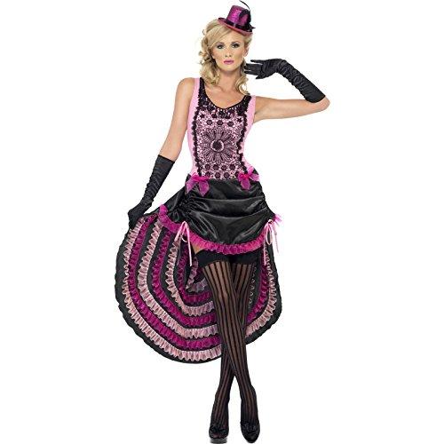 Smiffy's Burlesque Beauty Costume, Pink/Black, (Pink Burlesque Costumes)