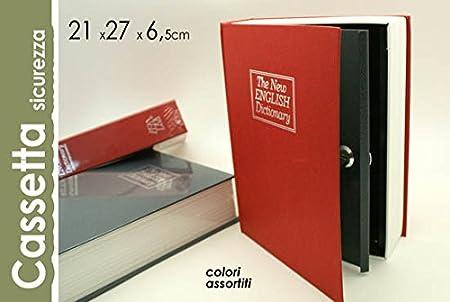 Caja de seguridad forma libro 21 x 27 x 6,5 cm suz-627804: Amazon.es: Hogar