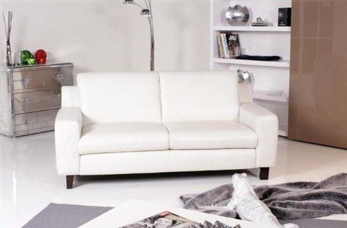Willi Schillig Modell 11980 Magixx 2er Sofa Leder weiß: Amazon.de ...