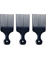 SUPVOX 3pcs Metal Pick Comb Hair Coloring Comb with Fist Handle for Volume and Tangles Hair Black
