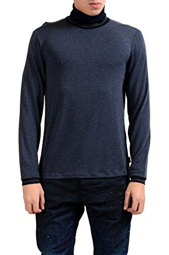 (Armani Collezioni Men's Blue Turtleneck Stretch Light Sweater US XL IT)