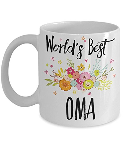 Oma Mug - World's Best Oma Coffee Mug / Tea Cup as Baby Shower Gift for Family Members