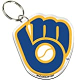 Milwaukee Brewers Glove Logo Premium Acrylic Keychain