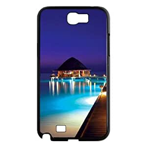DIY Cover Case with Hard Shell Protection for Samsung Galaxy Note 2 N7100 case with Beautiful Maldives lxa#470015