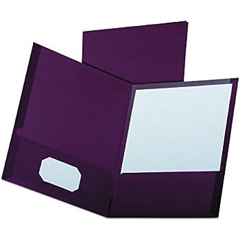 Amazon Com Oxford Linen Finish Two Pocket Folders