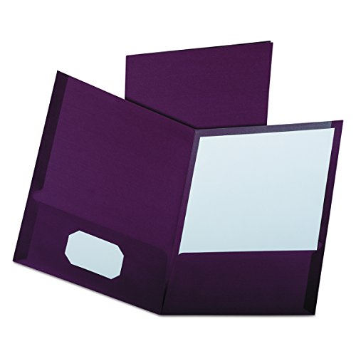 (Oxford Linen Finish Two-Pocket Folders, Burgundy, Letter Size, 25 per Box)