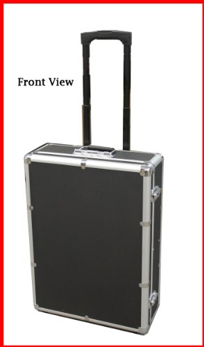 New MegaDisc 1000 Mess-Free Aluminum CD DVD Storage Case Holder Box Black W Removable Trolley and Sleeves without Hanger ()