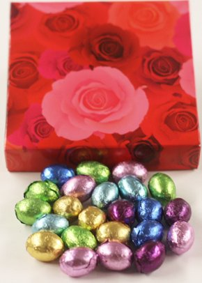 Scott's Cakes Foil-Wrapped Solid Chocolate Eggs in a 8 oz. P