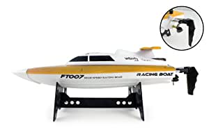 FT007 4-Channel 2.4G High Speed Racing RC Boat (Yellow)