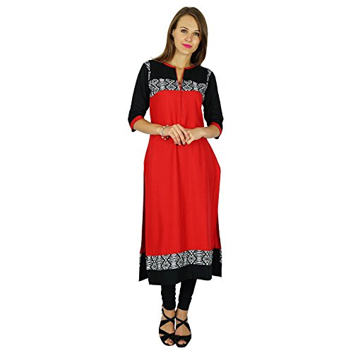 Black Kurti Kurta Phagun Etnica Peach Red Tunica And Bollywood 36 Sportiva Designer Dress Donna 6EOawOqW