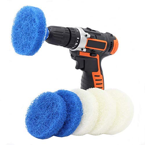 Cooptop Bathroom & Kitchen Cleaning Drill Brush Set - Power Scrub Pad Cleaning Kit – Power Scrubbing Drill Attachment - Cleaning Scouring Pads - Great for Cleaning Bathtubs, Sinks and Tile