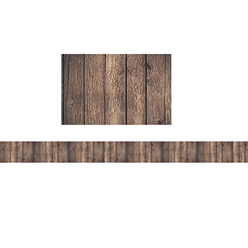 Teacher Created Resources Dark Wood Straight Border Trim (TCR3459)