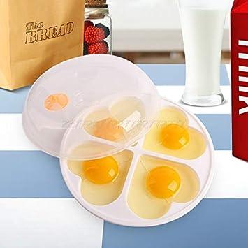 Escalfador de huevos - Hornillo de huevos para microondas con ...