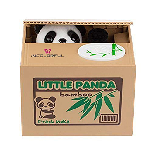 Imcolorful Stealing Coin Panda Box (brown) (Cute Sayings To Put On A Piggy Bank)