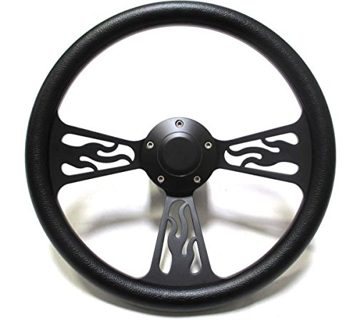 hot-rod-street-rod-rat-rod-truck-steering-wheel-black-billet-flamed-design