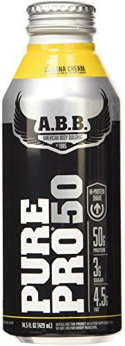 ABB Performance Pure Pro 50 Shake, Banana Cream, 14.5-Ounce Bottles (Pack of 12)
