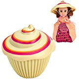 Cupcake Surprise Princess Edition Scented Doll Esther + Matching Mini Surprise Doll Esther Set of 2 Bonus Bling Clip-ON Lipgloss