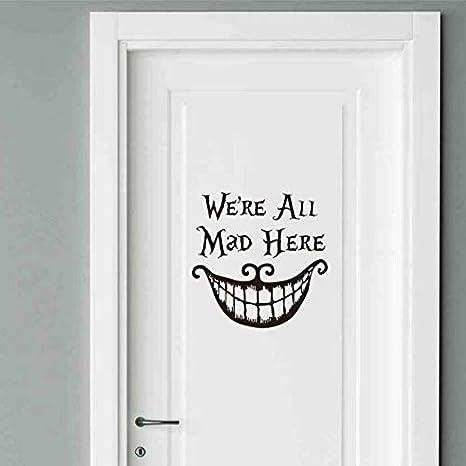 AllRe All Mad Here Cita Vinilo Etiqueta de la Puerta Alicia en el ...