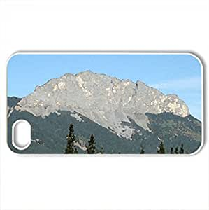 Canadian Rockies 27 - Case Cover for iPhone 4 and 4s (Mountains Series, Watercolor style, White)