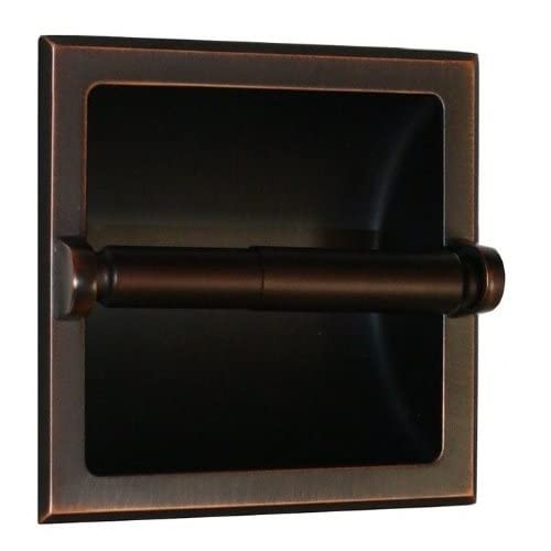 HowPlumb Recessed Toilet Paper Holder with Rear Mounting Bracket, Oil Rubbed Bronze