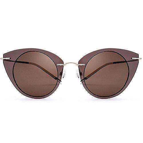 TAC de Sol Marco Nylon Sol Lente Gafas Gato Aihifly Mujer para de  Vacaciones de Sol ... 73b334fbb8c3