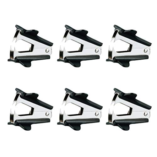 - 6Pc Mini High-quality Staple Remover Universal Handheld Nail Puller with Plastic Cap