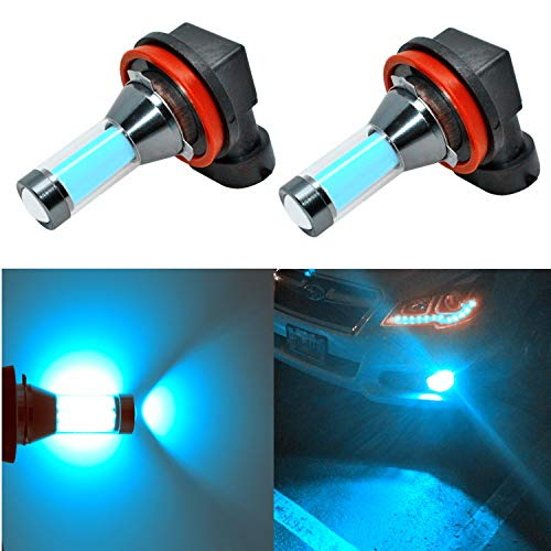 Alla Lighting H11 H16 LED Fog Lights Bulbs Xtreme Super Bright LED H16 Fog Light Bulbs - High Power COB Universal H8 H11 H16 LED Bulb Fog Lights Lamp Replacement, 8000K Ice Blue