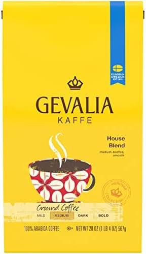 Gevalia House Blend Ground Coffee (20 oz Bag)