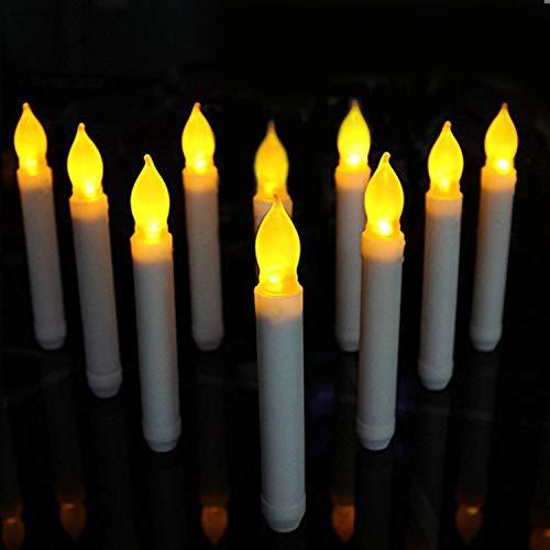8ca25824635 youngerbaby Amarillo Mini Funciona con pilas Cera Dipped – Taper velas