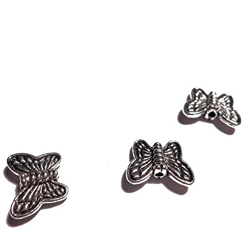 Rainbow 700 Piece Tone Butterfly Flat Spacer Findings Jewelry Making, 8mm, Silver