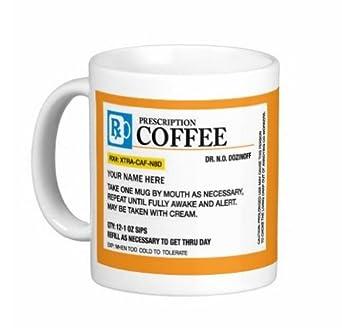 Amazon.com: Custom Prescription – Taza Custom 11 Oz tazas de ...