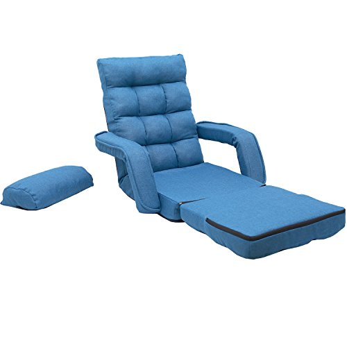 416o7fNGv9L - Merax-Folding-Lazy-Sofa-Floor-Chair-Sofa-Lounger-Bed-with-Armrests-and-a-Pillow