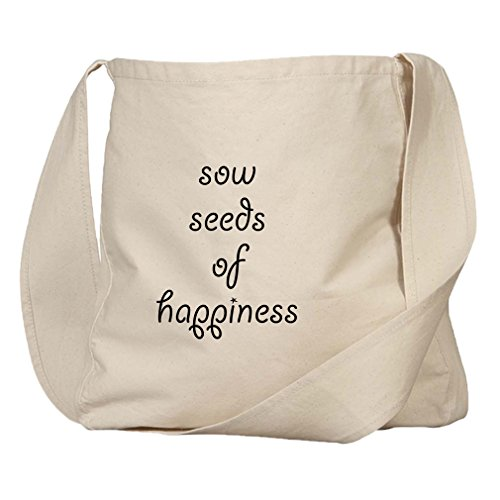 Sow Seeds Of Happiness Organic Cotton Canvas Market Bag - Sow Seeds Organic