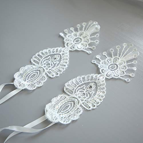 YiMinpwp Sparkly Lace Barefoot Bridal Sandals Wedding Shoes Sequin Swarovski Crystal Wedding Accessories from YiMinpwp