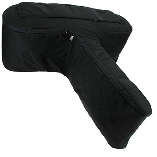 NGT Anglo Arms Rifle de tamaño grande con cremallera negro acolchado Ballesta bolsa soporte + bolsillo lateral para pernos DNA