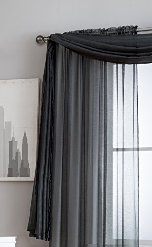 Jane Semi Sheer Window Scarf 54 X 216 Elegant Home