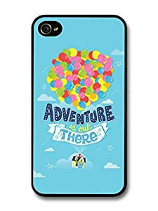 Adventure Up Disney Pixar Animation Movie Quote Balloons Fly case for iPhone 4 4S