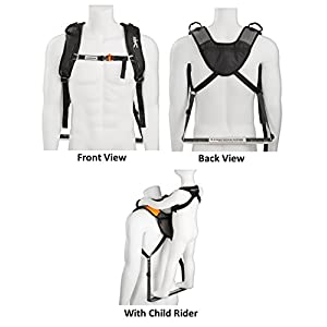 Piggyback Rider SCOUT Model - Child Toddler Carrier Backpack for Hiking Trails, Camping, Fitness Travel – Orange