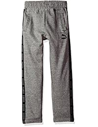 PUMA Big Boy's Boys' Tapered Pant Pants, Charcoal Heather, Large