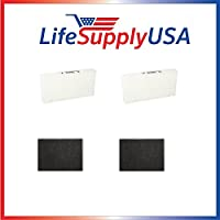 2-pack HEPA Replacement Filter SET with 2 Carbon Filters for Honeywell HRF-R2 fits Models: HPA-090 Series, HPA-100 Series, HPA200 Series, HPA300 Series by LifeSupplyUSA