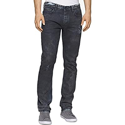 Calvin Klein Jeans Men's Slim Fit Ripped Destructed Denim Jean
