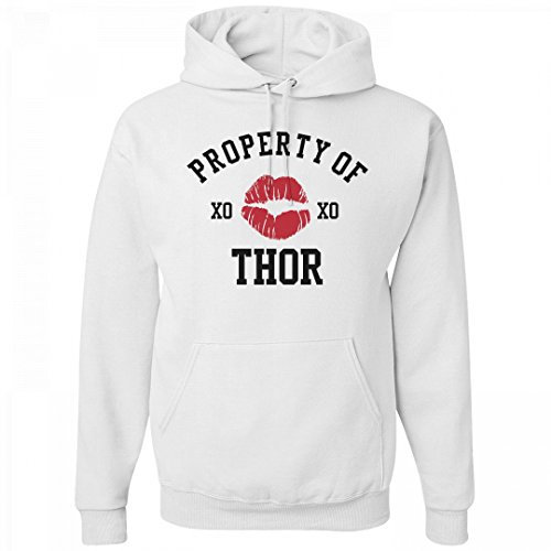 FUNNYSHIRTS.ORG Property Of Thor Hoodie: Unisex Jerzees Heavyweight (Thor Womens Hoody)