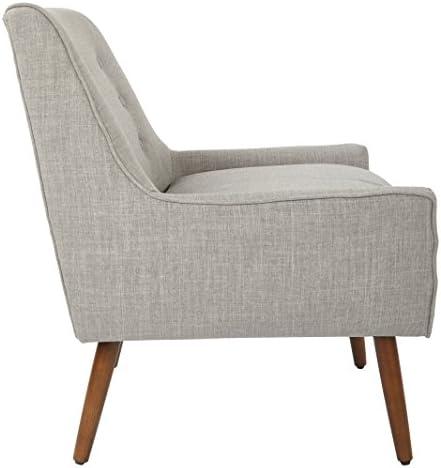 Work Smart Rhodes Accent Chair, Dove