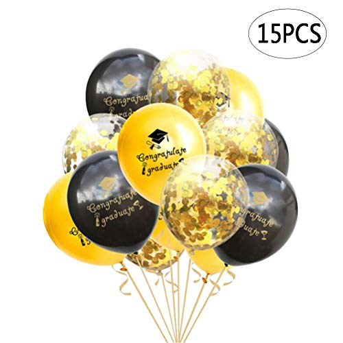 BinaryABC Graduation Sequins Confetti Balloons,Graduation Congratulate Graduate Letter