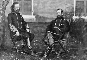 Major General Custer, General Pleasanton Fine art canvas print (20