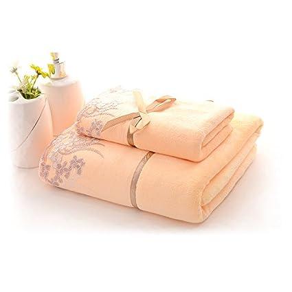 Juego de toallas y toalla de baño crema muy suave y absorbente, 500 g/m² toalla ...