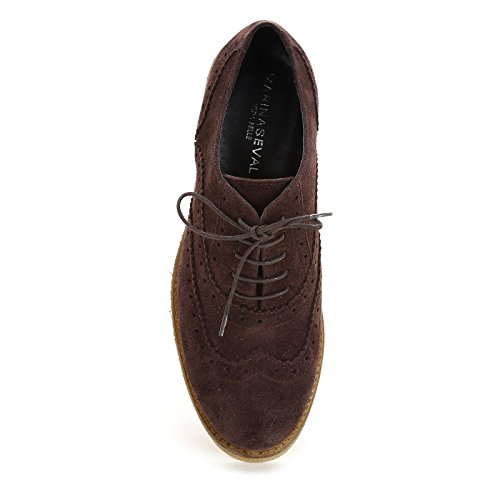 In By Marina Di Para Con Bassa Testa Scarpe Rondine Coda Moro amp;scarpe A Scarpa Seval Stringate Fondo Camoscio 5PPFqRp